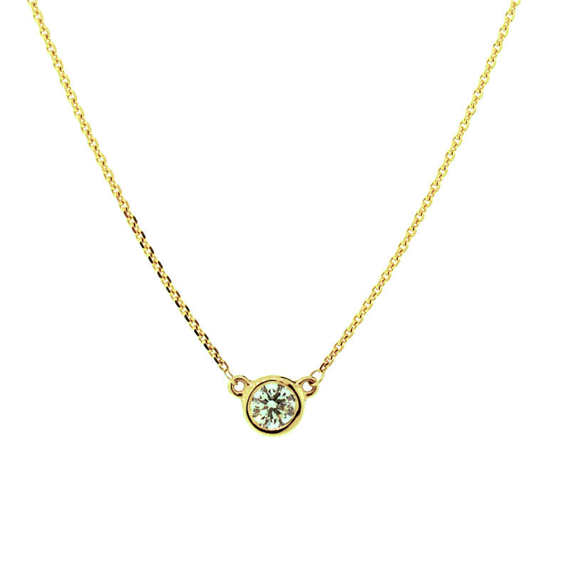 Diamond and 14K Yellow Gold Solitaire Pendant