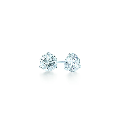 Kwiat Diamond and Platinum Stud Earrings 0.25 carat