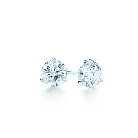 Kwiat Diamond and Platinum Stud Earrings 1.01 carats