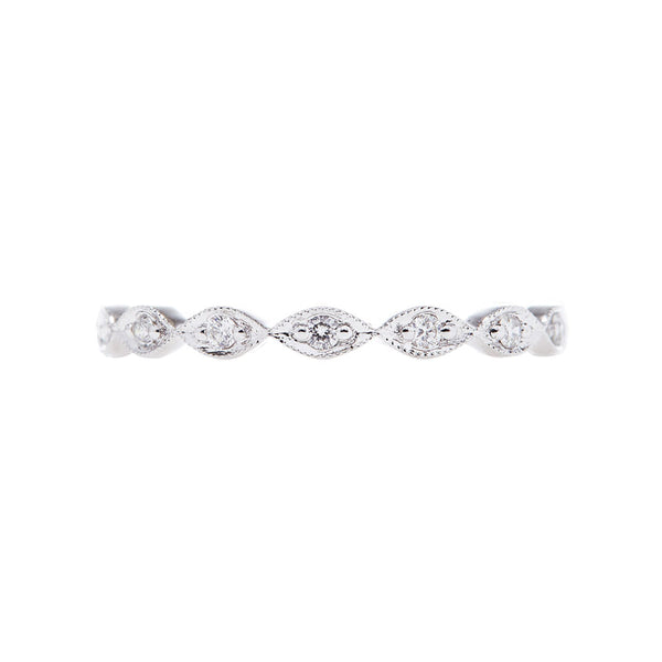 Sethi Couture Diamond and 18K White Gold Band 1998R