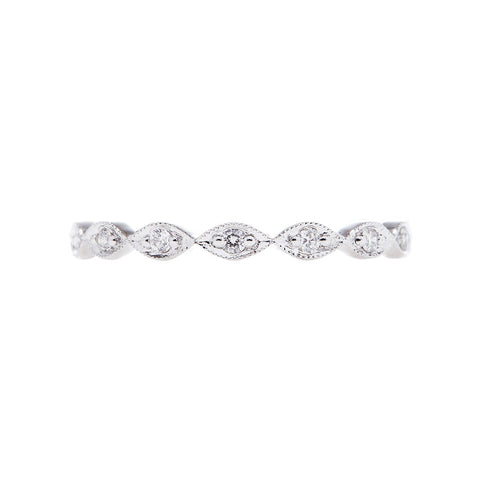 Sethi Couture 18K White Gold Diamond Marquise Shape Band