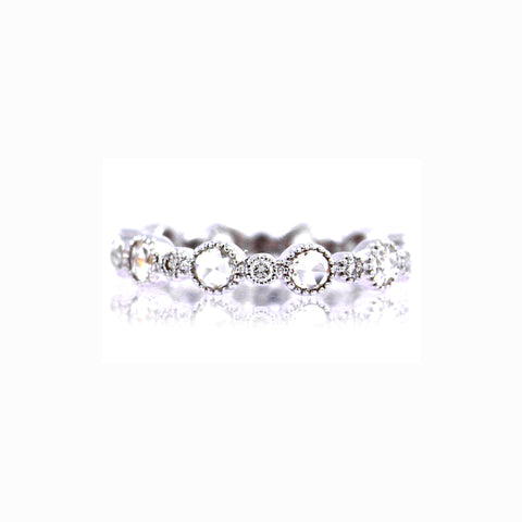 Sethi Couture Diamond and 18K White Gold Band