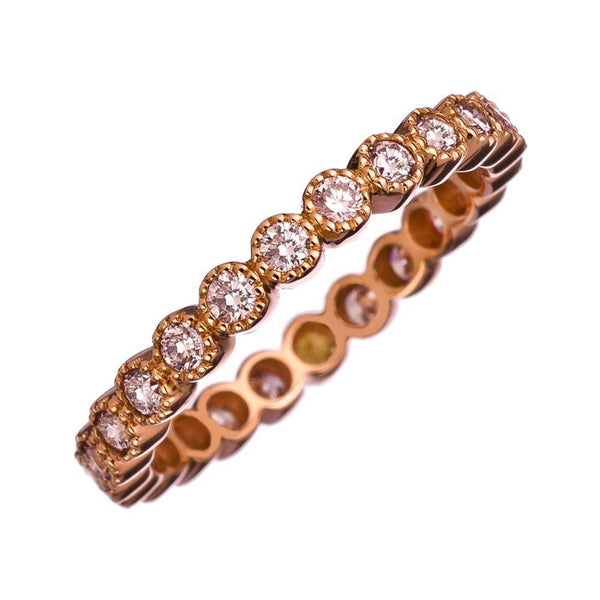 Sethi Couture Pink Diamond and 18K Rose Gold Band