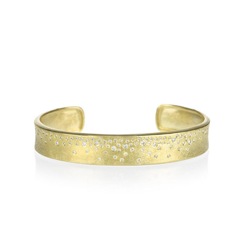 Todd Reed Diamond and 18K Gold Mini Cuff Bracelet