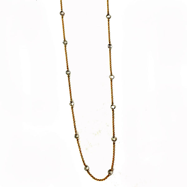 Sethi Couture Diamond and 18K Yellow Gold Station Necklace