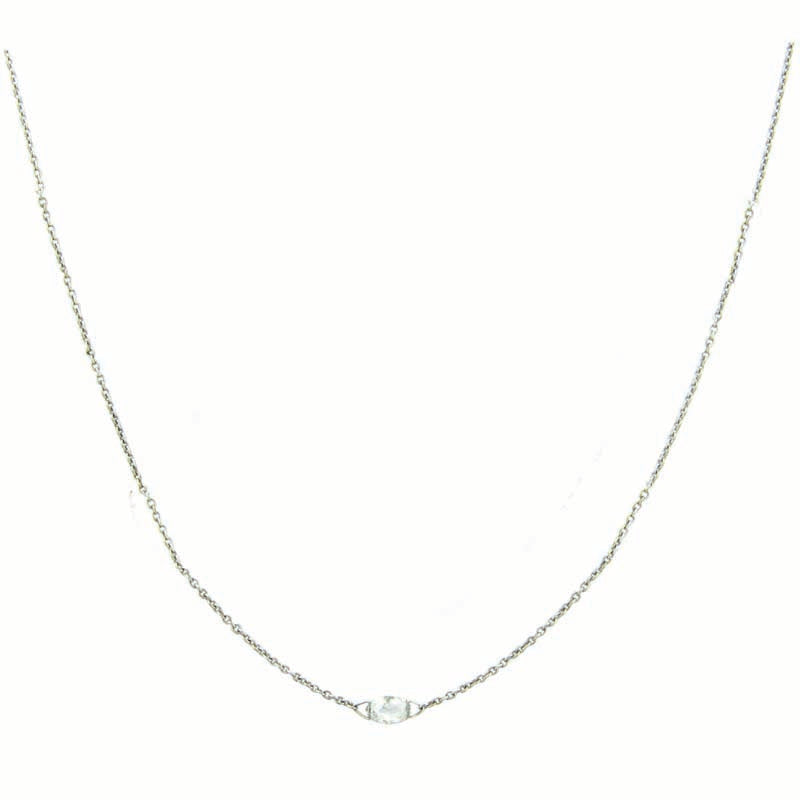 Sethi Couture Briolette Cut Diamond and 18K White Gold Necklace