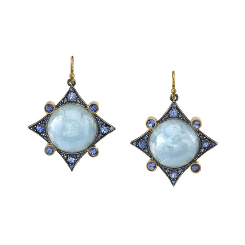 Arman Sarkisyan Aquamarine and Sapphire Earrings
