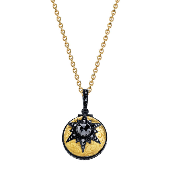 Arman Sarkisyan Black Diamond Poison Ball Pendant with black diamonds