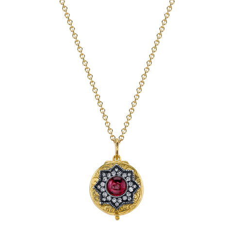 Arman Sarkisyan 22K Yellow Gold and Rubellite Locket