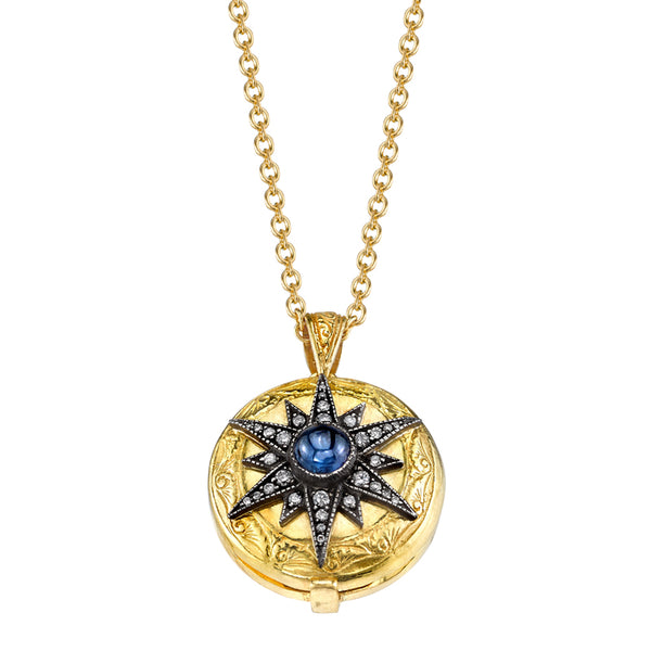 Arman Sarkisyan 22K Yellow Gold and Sapphire Locket