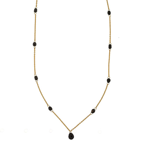 Gurhan One-of-a-Kind Delicate Black Diamond Station Necklace