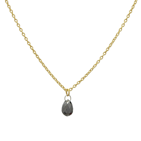 Gurhan One-of-a-Kind Delicate Black Diamond Briolette Pendant
