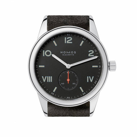 Nomos Club 38 Campus Nacht Stainless Steel Wristwatch NO 736