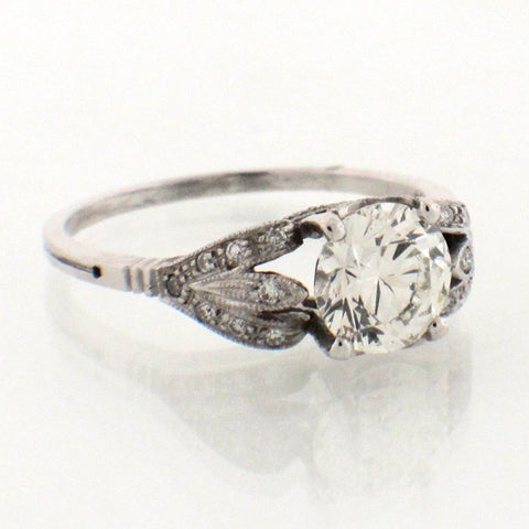 Diamond and Platinum Vintage Inspired Ring