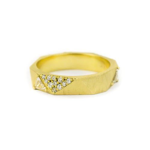 Samantha Louise yellow gold constellation band with billions of diamond facets