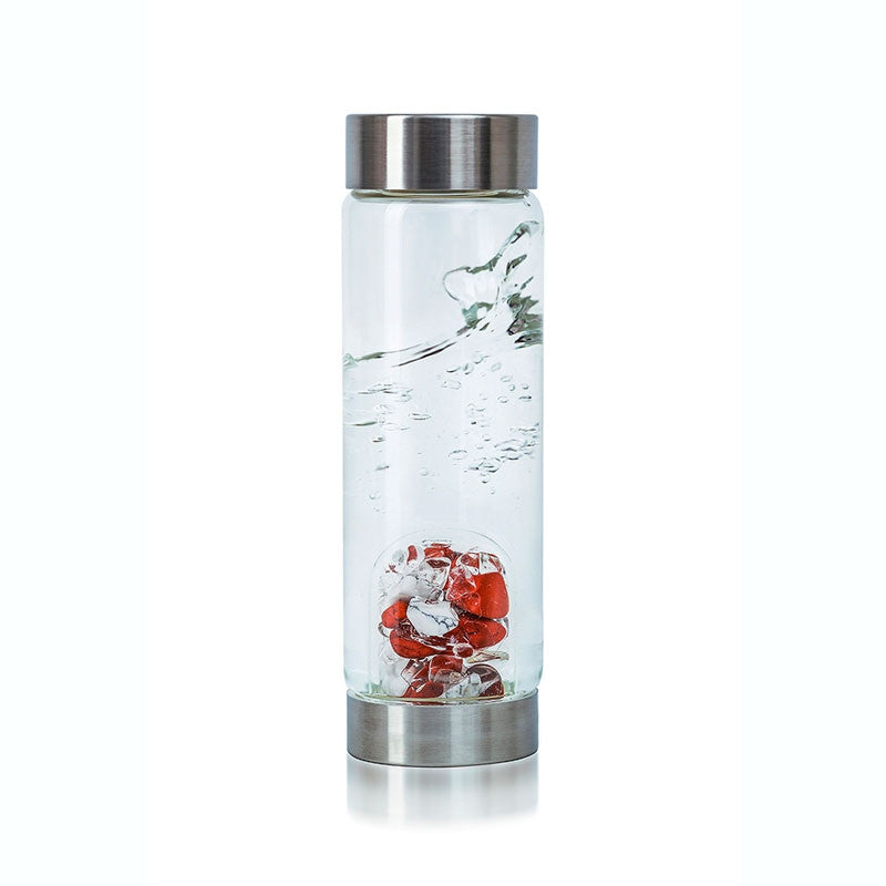 Fitness Gem Water Bottle made with magnesite and quartz