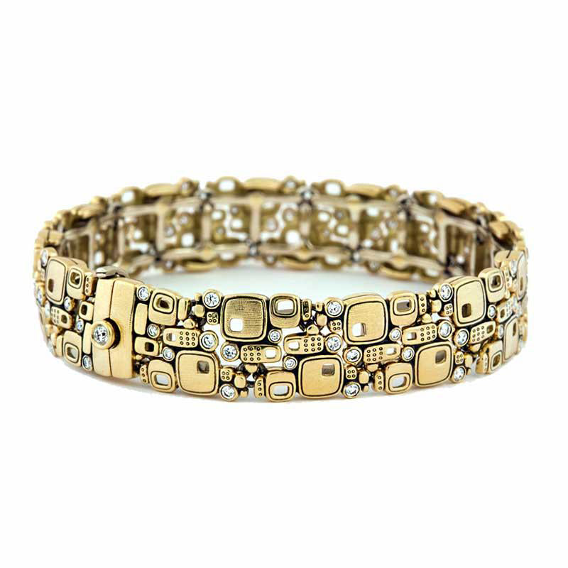"Alex Sepkus Diamond and 18K Gold ""Little Windows"" Bracelet with 77 tiny diamonds"