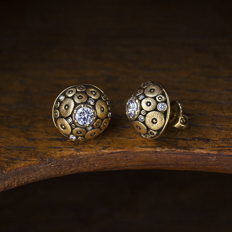 "Alex Sepkus ""Orchard"" Diamond Stud Earrings"