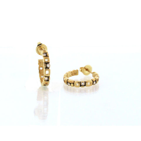 Alex Sepkus Diamond Hoop Earrings E-139D