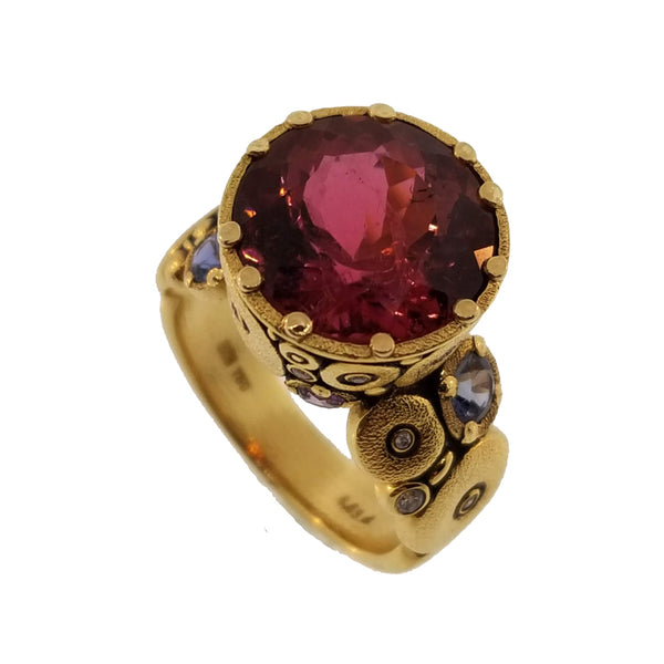Alex Sepkus Pink Tourmaline, Sapphire and Diamond