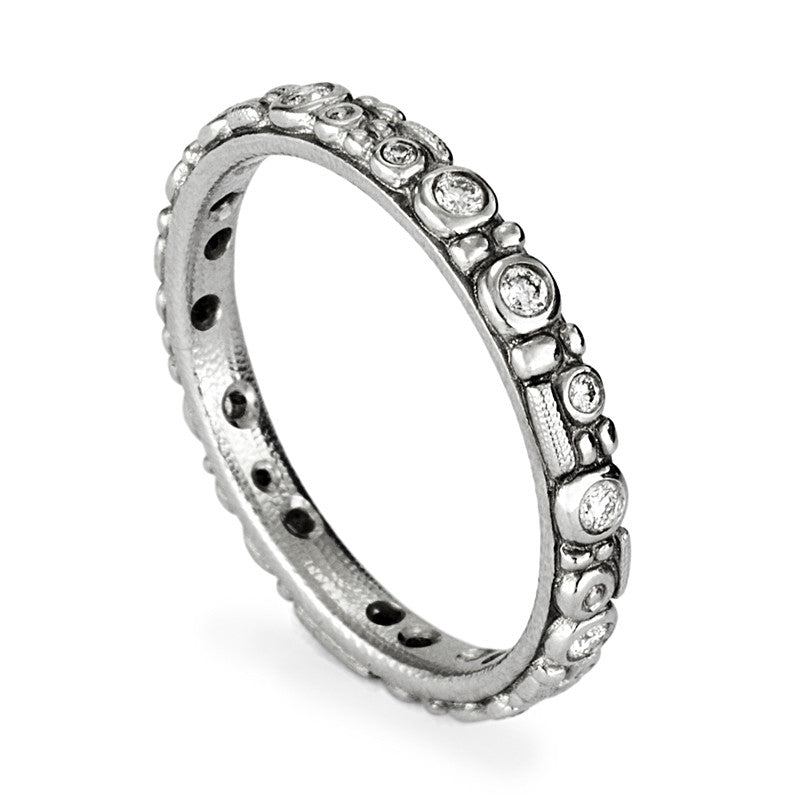 "Alex Sepkus Diamond and Platinum ""Mini 62"" Eternity Band"