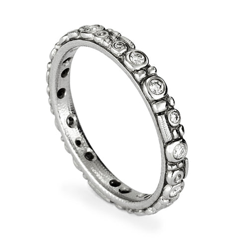 Alex Sepkus Diamond and Platinum Mini 62 Eternity Band R-117P