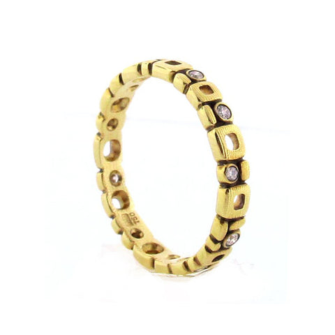 Alex Sepkus Diamond and 18K Gold Eternity Band R-119