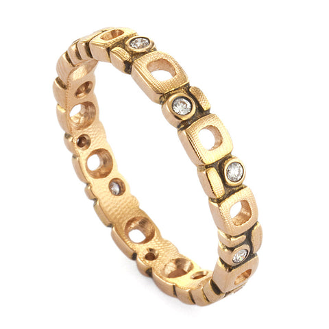 Alex Sepkus Diamond and 18K Rose Gold Eternity Band R-119R