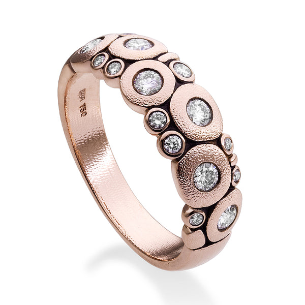 Alex Sepkus 18K Rose Gold and Silver Grey Diamond