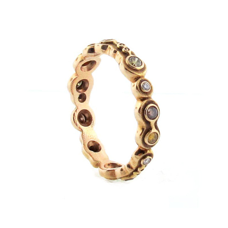 Alex Sepkus Fancy Diamond and 18K Rose Gold Eternity Band R-170R