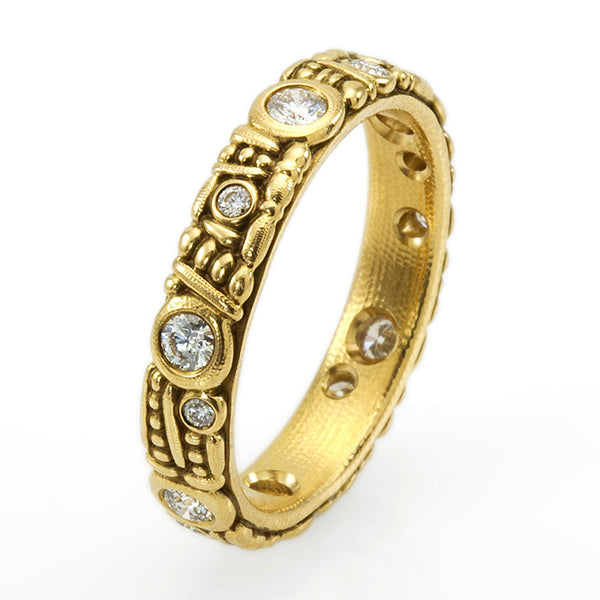 Alex Sepkus Diamond and 18K Gold Eternity Band R-62D