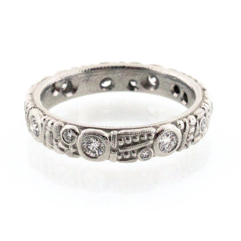 Alex Sepkus Diamond and Platinum Eternity Band