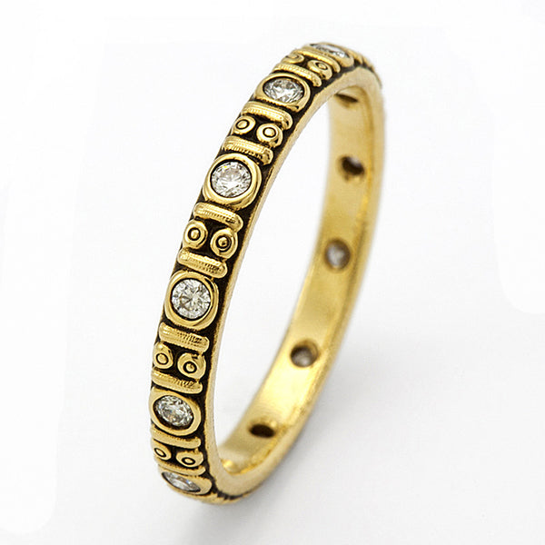Alex Sepkus Diamond and 18K Gold Eternity Band R-73