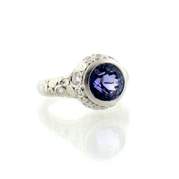 Alex Sepkus Tanzanite Diamond and Platinum