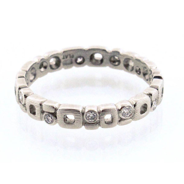 Alex Sepkus Diamond and 18K Gold Eternity Band R-119P