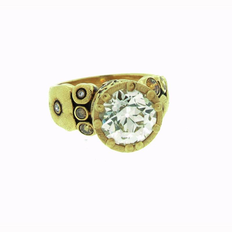 Alex Sepkus Old European Cut Diamond and 18K Yellow Gold Orchard Ring R-84MD