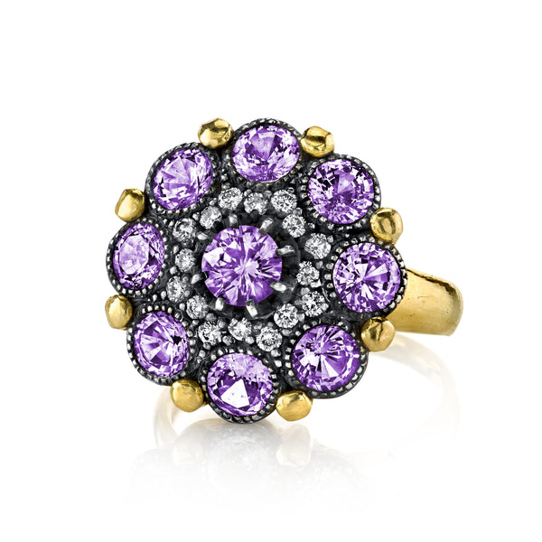 Arman Sarkisyan Purple Sapphire and Diamond Cupcake Ring