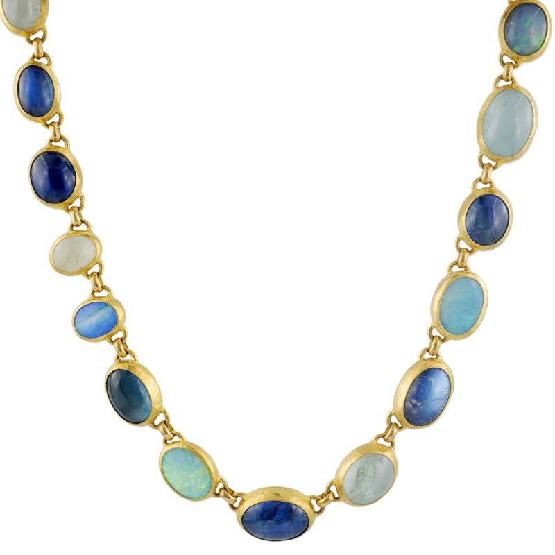 Gurhan Multi-colored Stone and 24K Gold Necklace