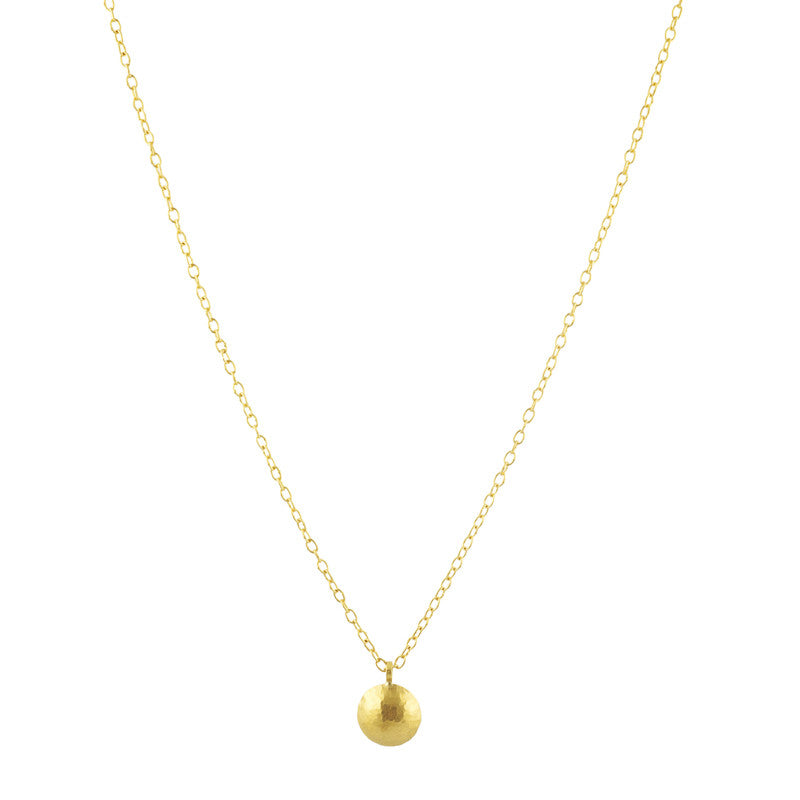 Gurhan 24K and 18K Yellow Gold Lentil Necklace