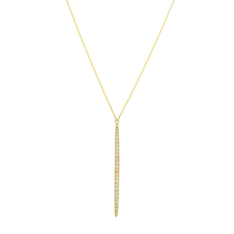 Gurhan 22K and 18K Gold and Diamond Vertical Whisper Necklace