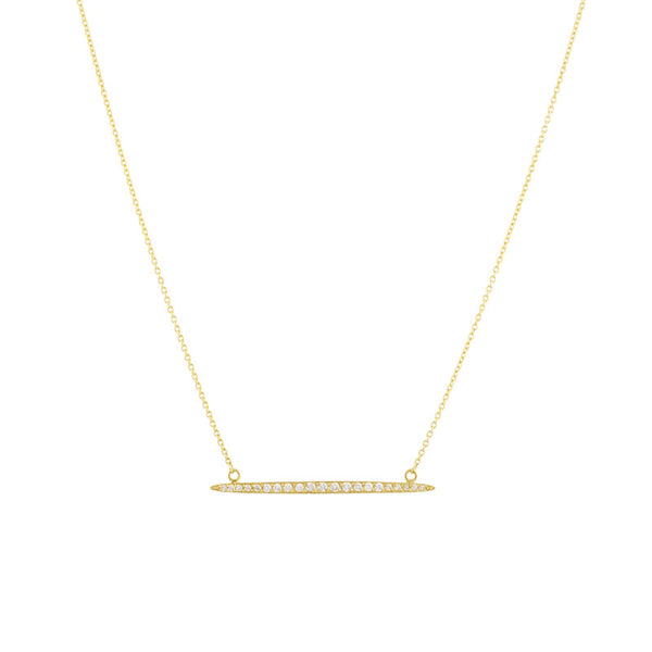 Gurhan 22K and 18K Gold and Diamond Horizontal Whisper Necklace