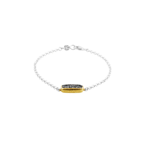 Gurhan Drusy Quartz 24K Gold and Sterling Silver Bracelet