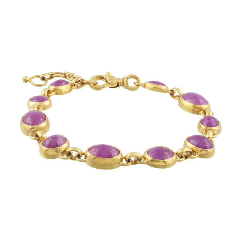 Gurhan One-of-a-Kind 24K Gold Ruby Bracelet