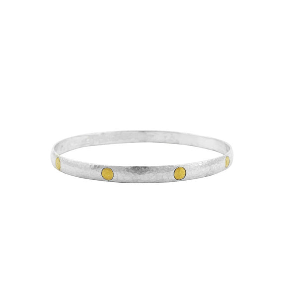 Gurhan 24K Gold and Sterling Silver Bangle Bracelet
