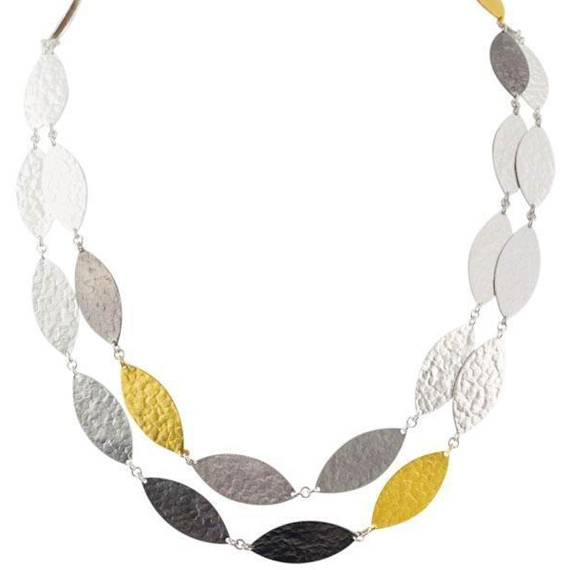 Gurhan 24K Gold and Sterling Silver Willow Necklace