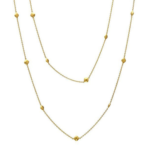 Gurhan Spell Pebble Long Station Necklace