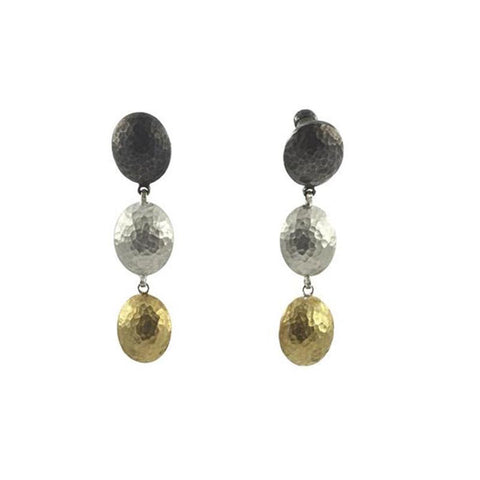 Gurhan 24K Gold and Sterling Silver Earrings