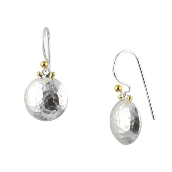 Gurhan Sterling Silver and 24K Gold Earrings