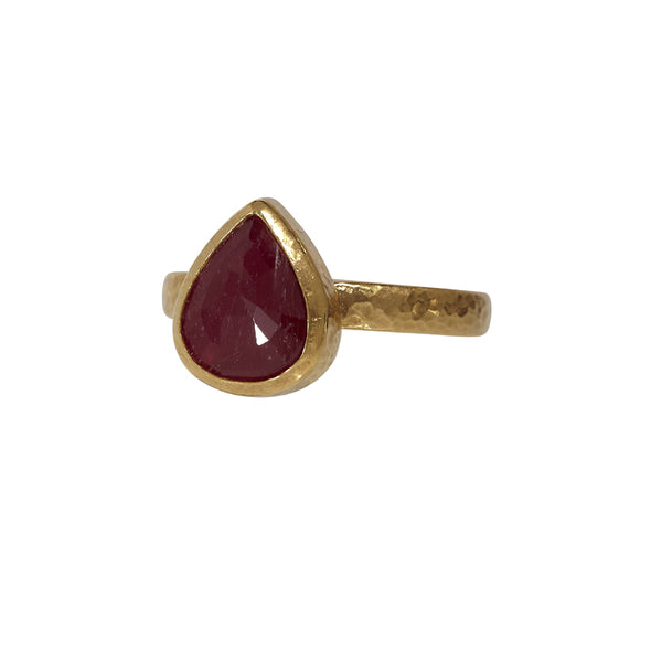 Gurhan One-of-a-Kind Pear-Shaped Ruby Ring