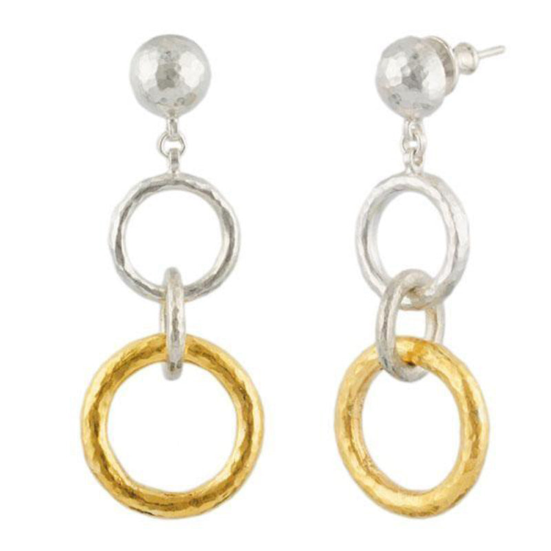 Gurhan 24K Gold and Sterling Silver Hoopla Drop Earrings